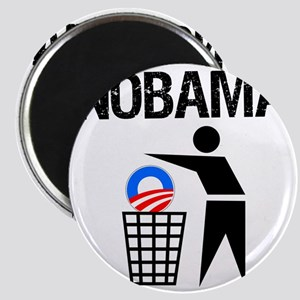 NoBama-(trash)-white-shirt Magnet