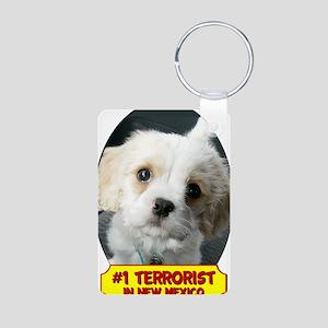 Terrorist Aluminum Photo Keychain