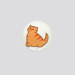Happy Fat Orange Cat Mini Button
