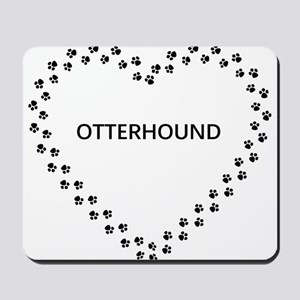 otterhound paw heart Mousepad