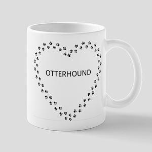 otterhound paw heart Mugs