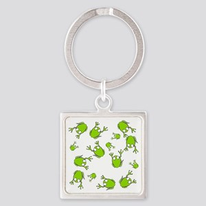 Frog Green Square Keychain