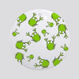 Frog Green Round Ornament