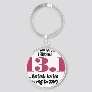 run13 Round Keychain