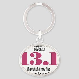 run13 Oval Keychain