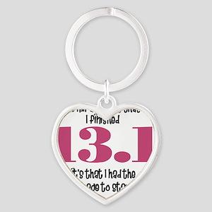 run13 Heart Keychain