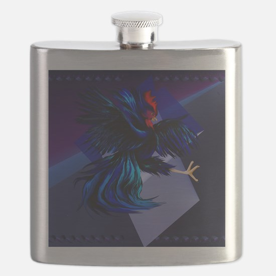 Black Fighting Rooster_mpad Flask