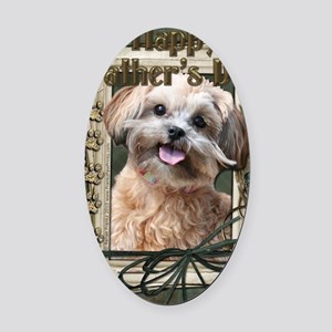 French_Quarters_ShihPoo Oval Car Magnet