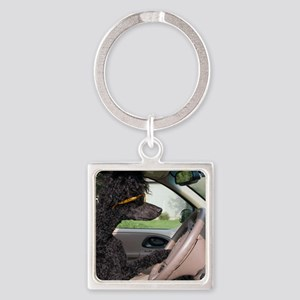 Bella driving cp cards Square Keychain