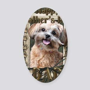French_Quarters_ShihPoo_Dad Oval Car Magnet