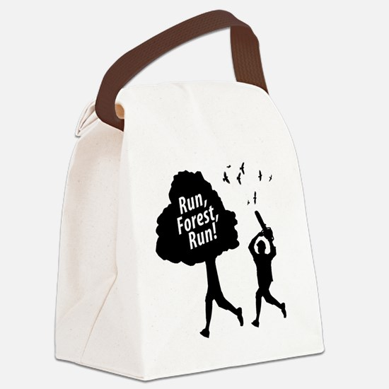 Run Forest Run Canvas Lunch Bag