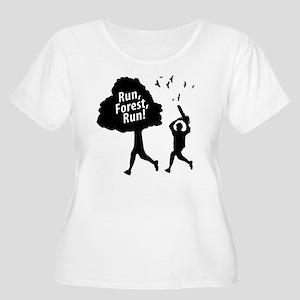 Run Forest Ru Women's Plus Size Scoop Neck T-Shirt