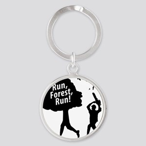 Run Forest Run Round Keychain