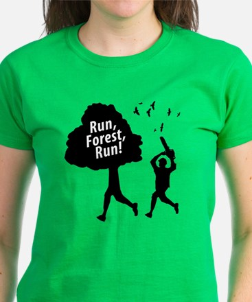Run Forest Run Women's Dark T-Shirt