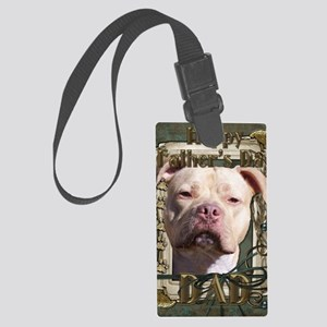 French_Quarters_Pitbull_DAD_Jers Large Luggage Tag
