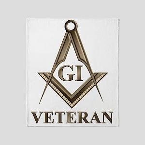 GI Veteran EMBLEM Throw Blanket