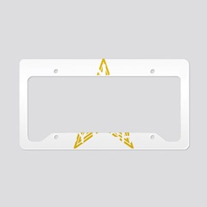 SENIOR WHT License Plate Holder