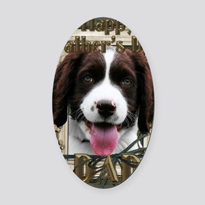 French_Quarters_English_Springer_S Oval Car Magnet
