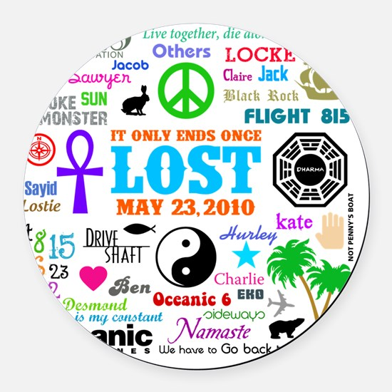 Loves Lost MP Round Car Magnet