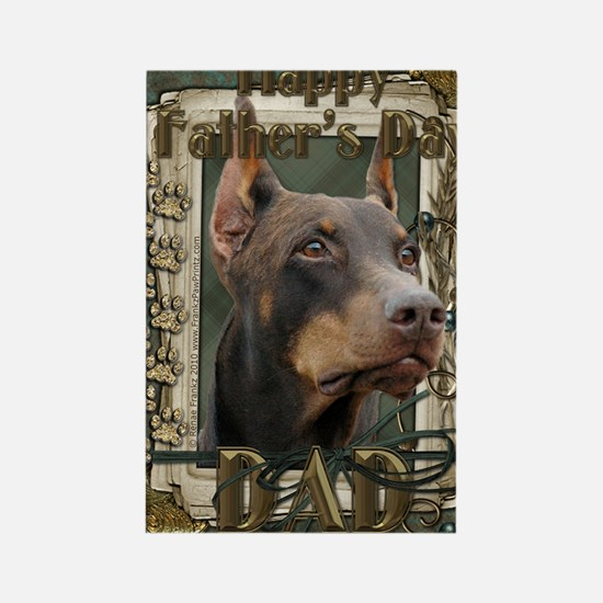French_Quarters_Doberman_Dad Rectangle Magnet