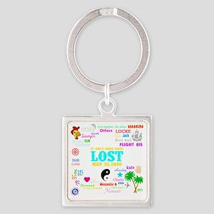 Loves Lost Dark Square Keychain