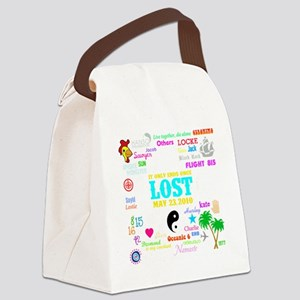 Loves Lost Dark Canvas Lunch Bag