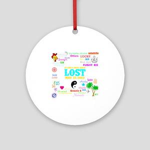 Loves Lost Dark Round Ornament