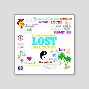 "Loves Lost Dark Square Sticker 3"" x 3"""