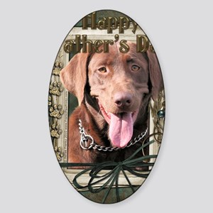 French_Quarters_Chocolate_Labrador Sticker (Oval)
