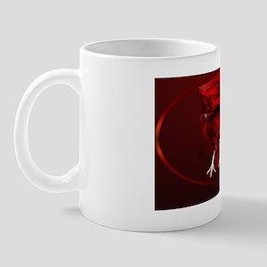 Big, Red Rooster-oval_sticker Mug