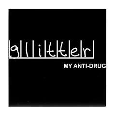 Glitter - My Anti-Drug Tile Coaster