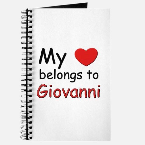 My heart belongs to giovanni Journal