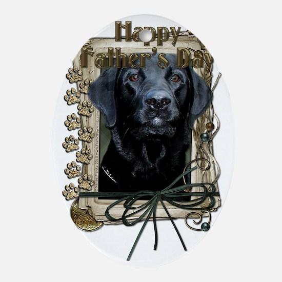 French_Quarters_Black_Labrador_Gage Oval Ornament