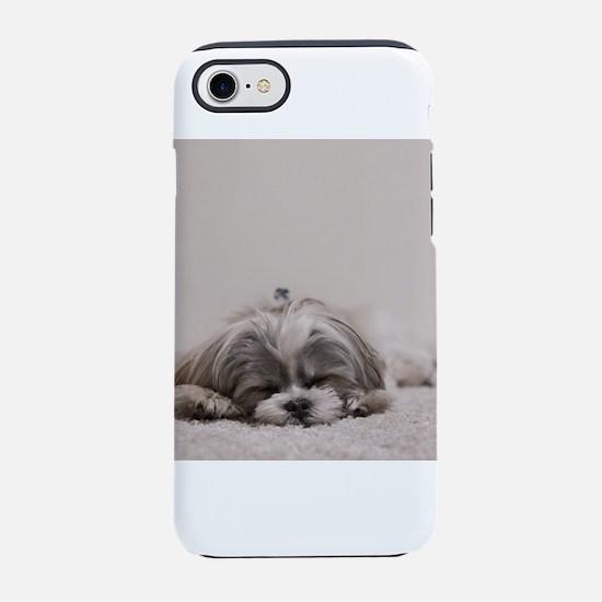 Shih Tzu Puppy Rests iPhone 7 Tough Case
