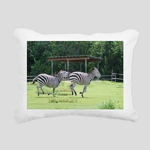 Zebra-MP Rectangular Canvas Pillow