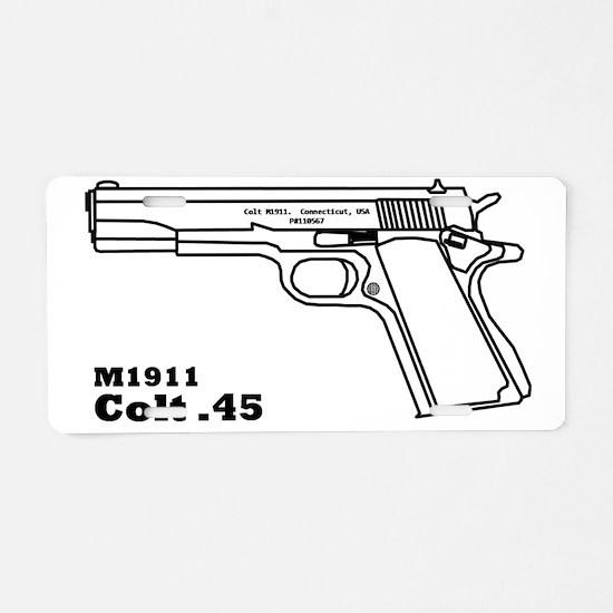 Colt blakc Aluminum License Plate