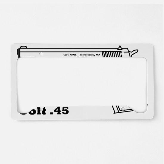 Colt blakc License Plate Holder