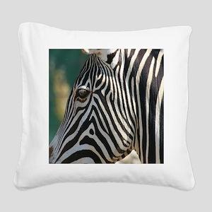Zebra-MP Square Canvas Pillow