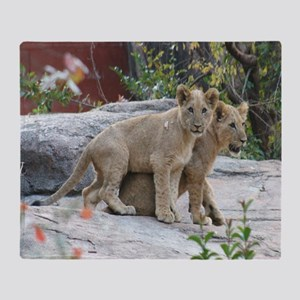 lion cubs-MP Throw Blanket