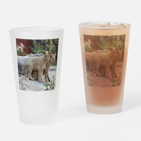 lion cubs-MP Drinking Glass