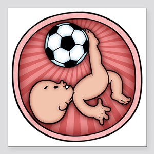 """soccer-womb2-T Square Car Magnet 3"""" x 3"""""""