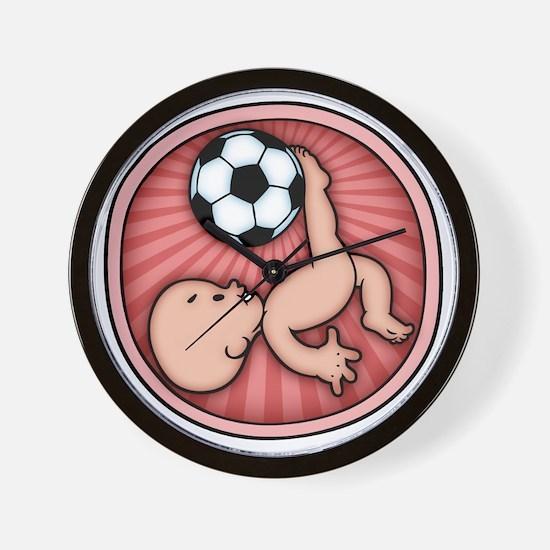 soccer-womb2-T Wall Clock