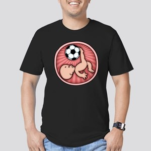 soccer-womb2-T Men's Fitted T-Shirt (dark)