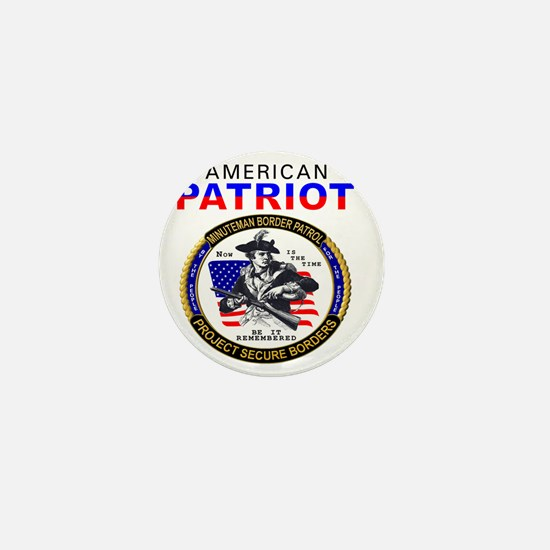 American Patriot - Minuteman seal v2 - Mini Button