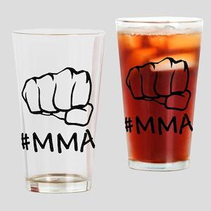 #mma fist 2000 black Drinking Glass