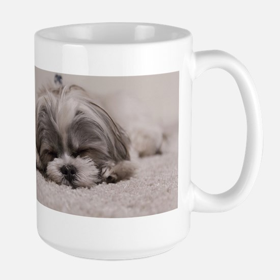 Shih Tzu Puppy Rests Mugs