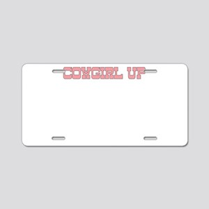 COWGIRL UP Aluminum License Plate