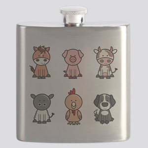 farm animal set Flask