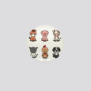 farm animal set Mini Button