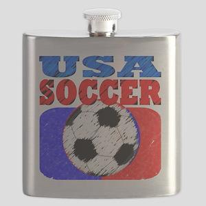 usa soccer slant 4 Flask
